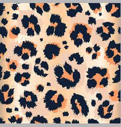 leopard pattern design funny drawing seamless vector image