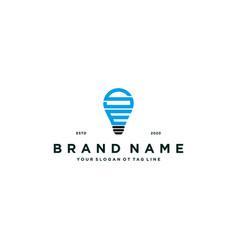 Letter se lamp logo design vector