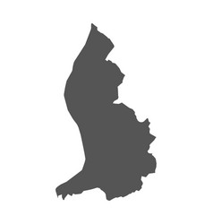 Liechtenstein map black icon on white background vector