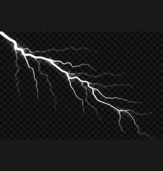 Lightning electric thunder storm vector