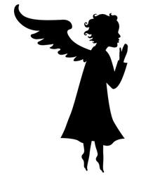 litle angel vector image