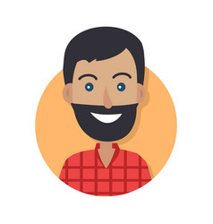 man face emotive icon in flat style vector image