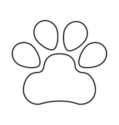 mascot footprint isolated icon vector image