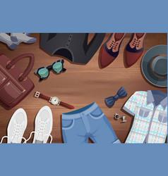 men accessories background vector image