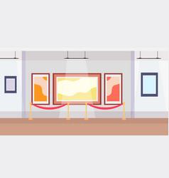 Modern art gallery museum interior creative vector