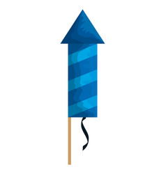 Party firecracker isolated icon vector
