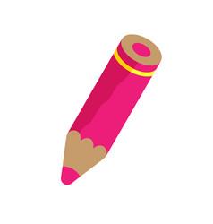 Pink pencil vector