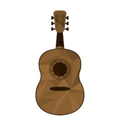 Polygon texture guitarron icon vector
