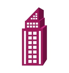 purple tall building graphic vector image