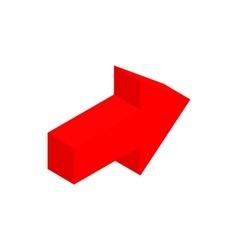 Red arrow isometric 3d icon vector