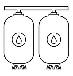 Reserve water bottle icon outline style vector