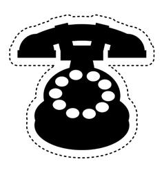Retro telephone isolated icon vector