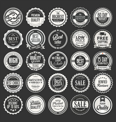 retro vintage badges and labels collection 2 vector image