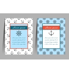 Sea theme cards vector image
