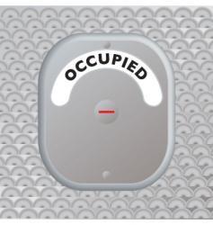 secure door occupied vector image