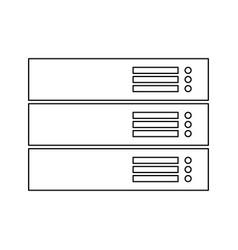 Server black color path icon vector