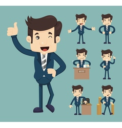Set of business people eps10 format vector image
