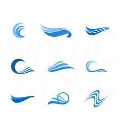 Set of Water and wave Design Elements Can be used vector image
