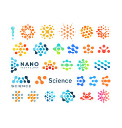 set science logo templates creative dotted vector image