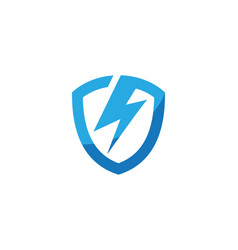 shield power lightning vector image