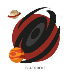 Space black hole image vector