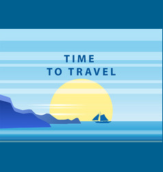 summer sunny tropical backgrounds time to travel vector image