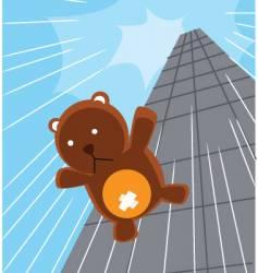 Teddy bear drop building vector