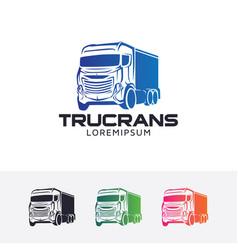 truck trans logo vector image