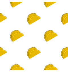 Two empanadas pattern seamless vector