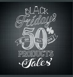 Typographic black friday background vector