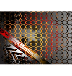 Under construction metallic abstract background vector image