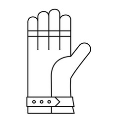 welding glove icon outline style vector image