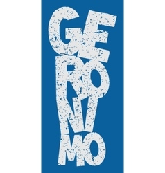Word Geronimo vector