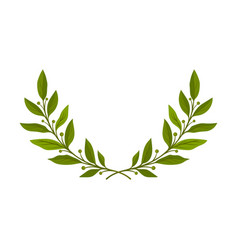 Wreath in shape a semicircle branches vector