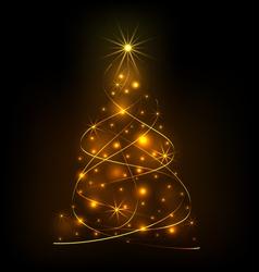 Abstract light Christmas tree vector image vector image