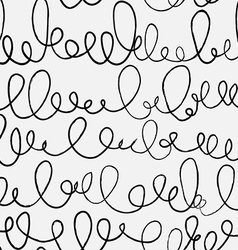 Doodle abstract pattern with ligature Black and vector image vector image