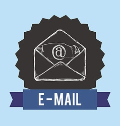 Email design vector image