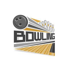 Logo for bowling vector
