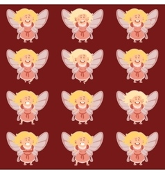 Set of fairy girls vector image