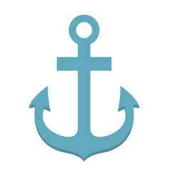 anchor flat icon navigation and nautical vector image