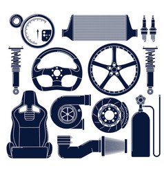 auto parts icons vector image vector image