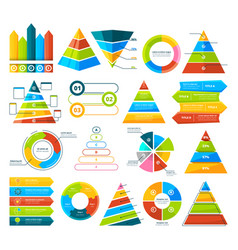 big collection of infographic elements pie vector image vector image