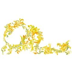 Decorative ornamental floral vintage vector image vector image