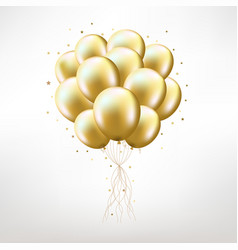 golden balloons vector image