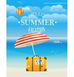 Summer seaside vacation Hello summer vacation vector image