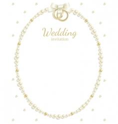 wedding jewel frame vector image