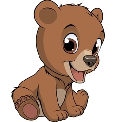 Little funny bear vector image vector image