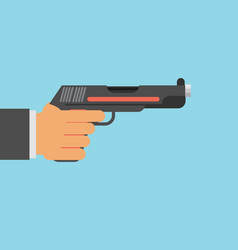 picture of human hand with gun flat style vector image