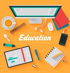 Trendy flat design education vector