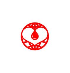 blood care logo vector image
